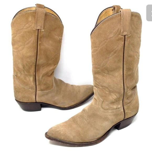 Tony Lama Cowboy Boots Rough